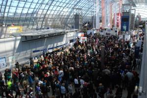Besucherandrang am Samstag bei der Leipziger Buchmesse 2013