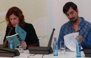 Zwei neue junge Autoren Chiles: Nona Fernández und Carlos Labbé.