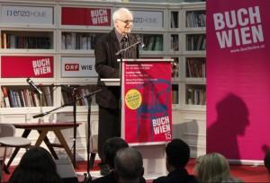 Adolf Muschg bei seiner Eröffnungsrede zur Buch Wien 2015. © Christian Lund