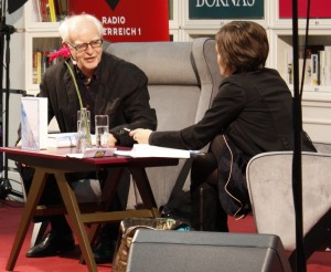 """Adolf Muschg stellt seinen Roman """"Die japanische Tasche"""" vor. © Christian Lund"""