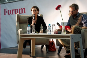 Barbara Stelzl-Marx und Ö1-Moderator Wolfgang Popp. © Christian Lund
